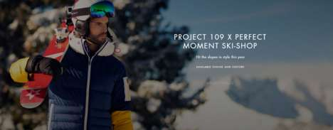 VR Skiwear Pop-Ups - Harvey Nichols' Perfect Moment Pop-Up Turns the Store into a Winter Village