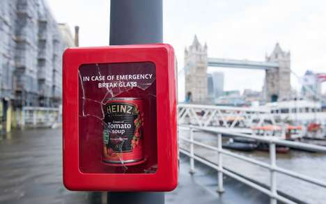 Emergency Soup Can Campaigns - Heinz is Helping Londoners Beat the Winter Blues with Free Soup