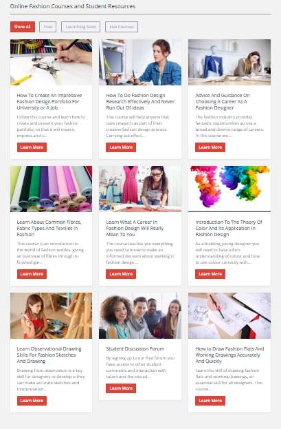 Educational Online Fashion Courses - This Site Offers Fashion Students Accessible Information