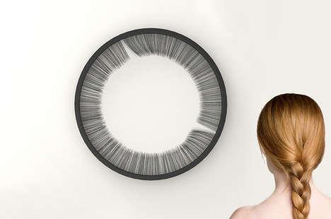 Artistic Eyelash Clocks