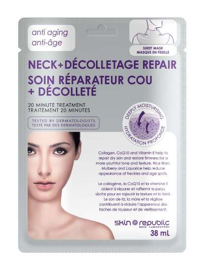 Rejuvenating Decolletage Masks - This 20-Minute Anti-Aging Treatment Targets Neck and Chest Wrinkles