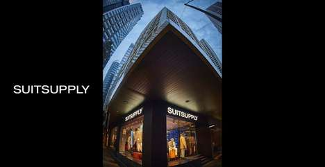 Subtly Spectacular Suit Stores - Suitsupply's Massive Hong Kong Retail Location has Minimal Entryway
