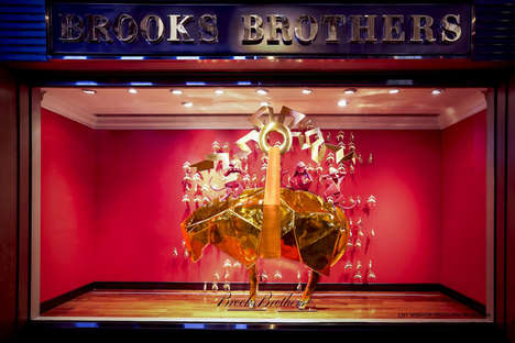 New Year-Themed Storefronts - Brooks Brothers' Stores Had Displays Inspired by Chinese New Year