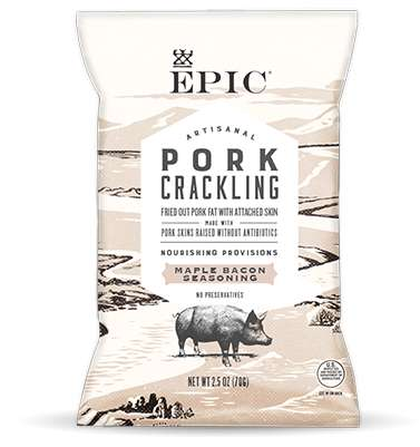 Crispy Pork Shoulder Snacks - EPIC Provisions' 'Maple Bacon Pork Cracklings' are Paleo and Organic