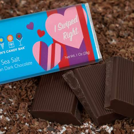 Dating App-Inspired Chocolates - This Valentine's Day Chocolate Bar References Tinder