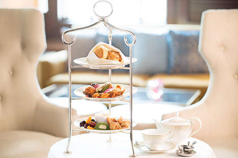 Arabic Afternoon Tea Services - The Ritz Carton Dubai Offers Regional High Tea Flavors and Treats