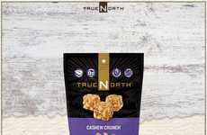Crunchy Cashew Clusters - True North's Cashew Crunch Snacks are Help to Fuel Consumers on the Go