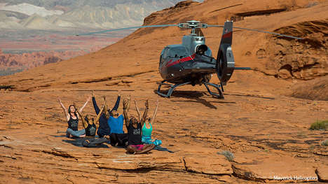 Helicopter Yoga Excursions