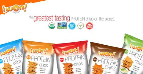 Plant-Based Protein Crackers - iwon! organics New Protein Chips are Made with Healthy Pea Protein