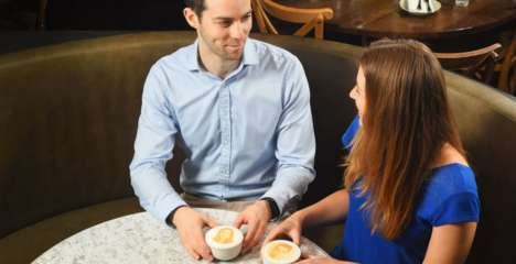 3D-Printed Coffee Dates - Match.com and Espresso Yourself Make Matches with Latte Foam Selfies