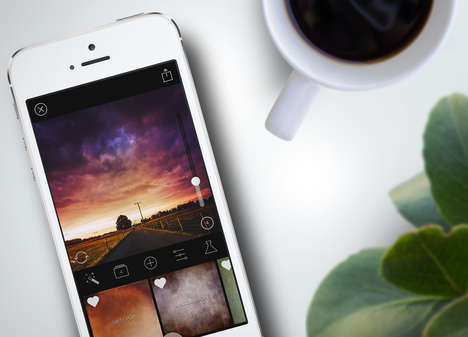 Texturing-Enhancing Photography Apps - The Mextures App Allows Users to Add Texture to Their Photos
