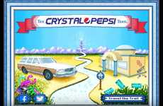 90s-Inspired Cola Campaigns - The Crystal Pepsi Trail Hearkens to the Era of the Drink's Release