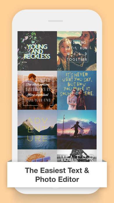 Photo-Specific Typography Apps
