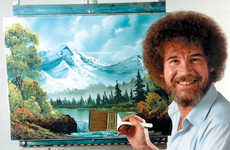 Nostalgic Digital Painting Commercials - Adobe Paid Homage to Bob Ross in a Series of Commercials
