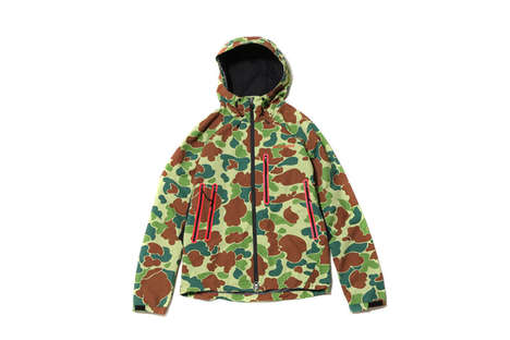 High-Function Camouflage Apparel - These New Columbia Jackets are Part of a Collaboration with Atmos