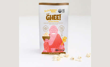 Organic Ghee Butter Popcorns - The Oh My Ghee Organic Popcorn Includes Pure and Simple Ingredients