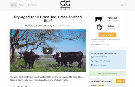 Crowd Cow Lets Consumers Purchase Shares of a Cow