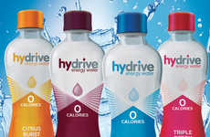 Enhanced Caffeinated Waters - The Hydrive Energy Water Drinks Contain No Sugar or Calories