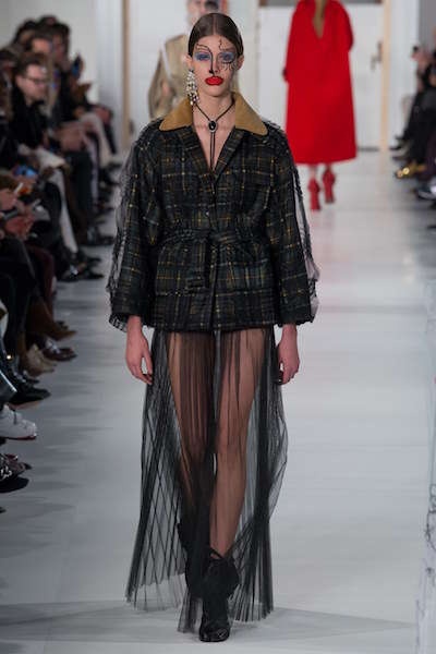 String-Integrated Makeup Looks - This Maison Margiela Couture Collection Boasts Adornments in Thread