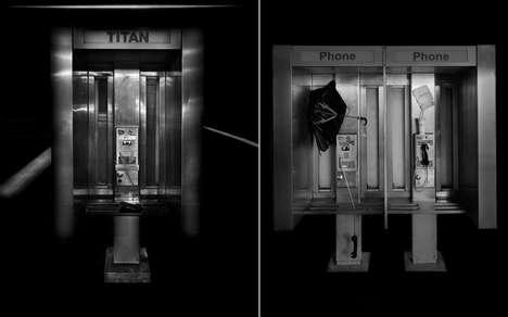 Eerie Payphone Photography
