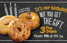 Complimentary Bagel Promotions - Bruegger's Bagels is Offering Three Free Bagels to Patrons