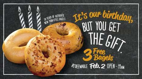 Complimentary Bagel Promotions