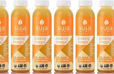 Cold-Pressed Turmeric Vinegars - Suja Juice Ginger Turmeric Drinking Vinegar Has Vegan Probiotics