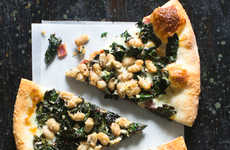 Green White Bean Pizzas - This White Bean and Kale-Covered Pizza Features a Classic Italian Pairing