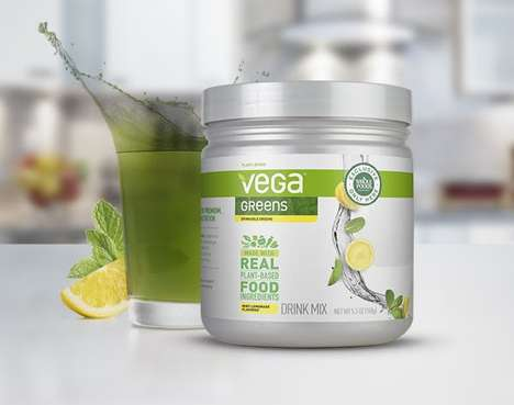 Plant-Based Beverage Powders - Vega Greens Drink is Made with Organic Greens for Quick Consumption