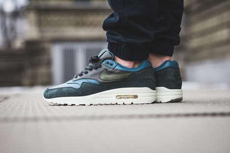 Deep Jade-Hued Sneakers