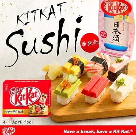 Chocolate Wafer Sushi - The Japanese Kit Kat Shop Will Be Selling Asian-Inspired Chocolate Bar Sushi