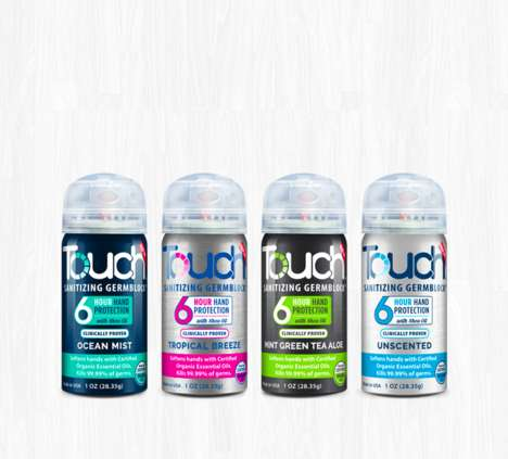 Long-Lasting Sanitizing Sprays - The 'Touch' is a Hand Sanitizer Spray Provides Hours of Protection
