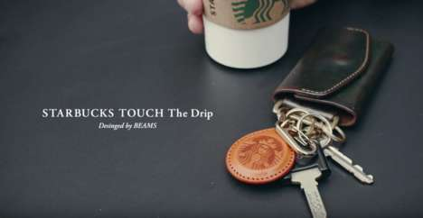 Coffee Payment Keychains - 'STARBUCKS TOUCH The Drip' is a Contactless Payment Solution