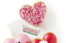 Personified Valentine's Day Desserts - The Krispy Kreme Happy Heart Dessert Donuts are Cute