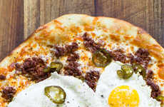 Spicy Breakfast Pizzas - This Breakfast Pizza Recipe Contains Chorizo and Candied Jalapenos