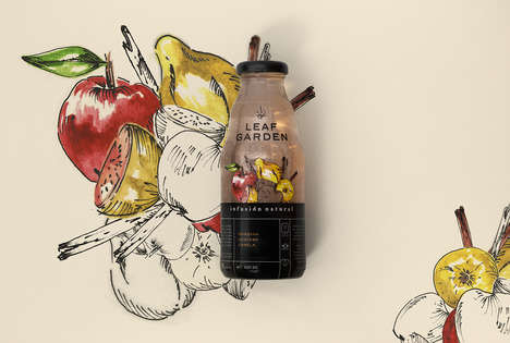 Rustically Branded Juices - The Brand 'Leaf Garden' Offers Flavorful Botanical Infusions
