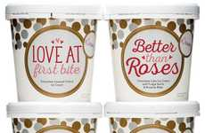 Punny Romantic Desserts - eCreamery's Valentine's Day Ice Creams Capture Hearts with Humor