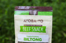 South African Meat Snacks - The Ayoba-Yo Biltong Beef Snacks are a Traditional Take on Beef Jerky