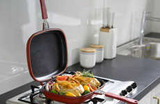 Double-Sided Cooking Pans - The Happycall Nonstick Double Pan Expedites Even Cooking Capabilities