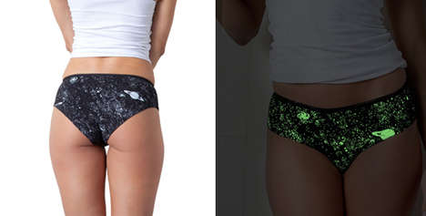 Revitalized Galactic Undergarments - Make It Good Clothing Updated Its Glow-in-the-Dark Range