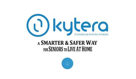 Remote Senior Monitoring Systems - Kytera Consists of a Wristband and Sensors Placed Around the Home