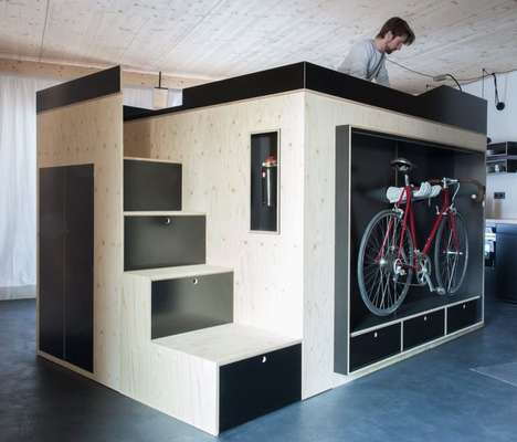 Efficient Apartment Cubes - The 'Kammerspiel' Apartment Living Unit Increases Overall Organization