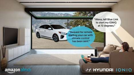 Voice-Activated Vehicle Controls - Hyundai's Blue Link App is Now Integrated with Amazon Alexa