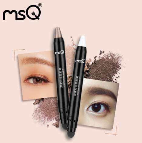 Eyeshadow Blender Pencils - MSQ Cosmetics' Eyeshadow Pencil Includes a Sponge Tip