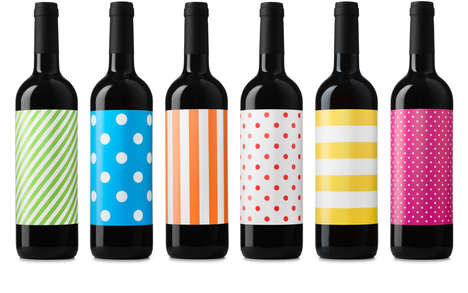 Youthfully Graphic Wine Bottles