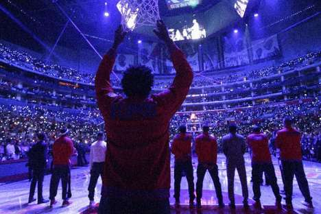 Bright Basketball Wearables - PixMob Bracelets Lit Up Fans at Three NBA Arenas