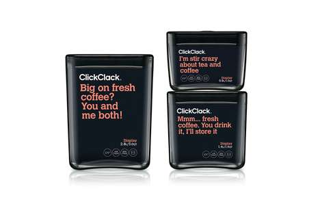 Humorously Labeled Food Containers - ClickClack Offers Playful and Attention-Grabbing Branding