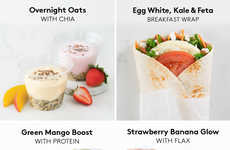 Healthy Green-Labelled Breakfast Menus - Second Cup's 'Better For You' Menu Has Smoothies and Wraps