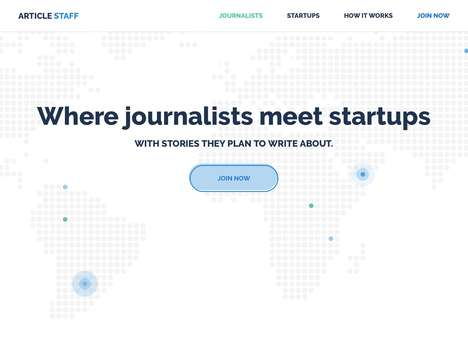 Startup Journalism Platforms - 'ArticleStaff' is an Online Platform to Pitch Stories to Journalists