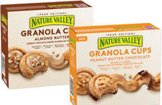 Creamy Nut Butter Cups - Nature Valley's 'Granola Cups' Combine Whole Grain Oats with Nut Butter